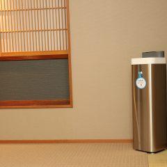 亜塩素酸水散布による、客室内の空間除菌