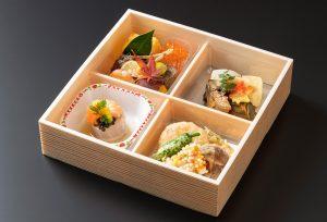 折り箱弁当四つ割り(料理のみ)